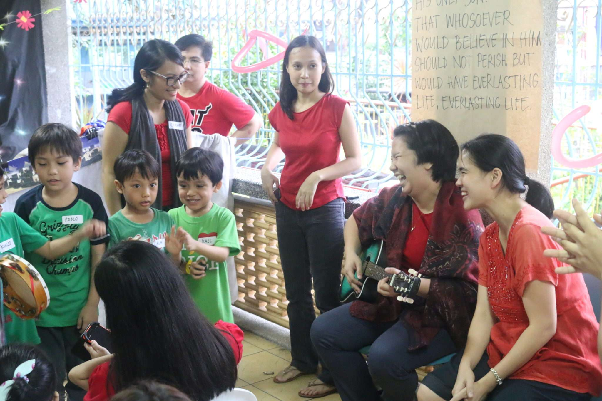 Joyfully singing for the orphans :)