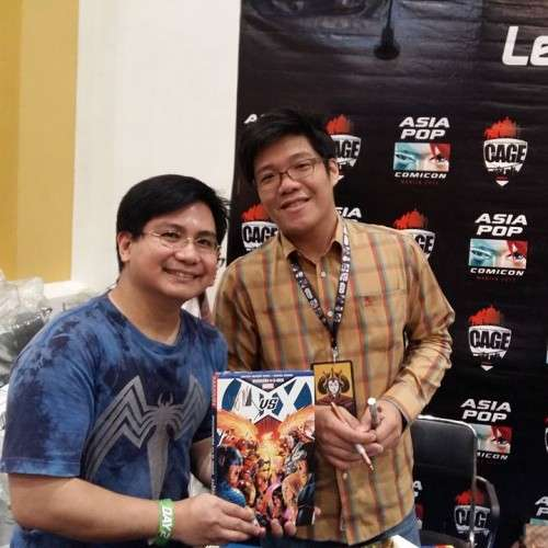 """Hubby with Leinil Yu, Marvel artist for """"Secret Invasion,"""" """"Wolverine,"""" """"New Avengers,"""" and more! He also worked on DC's """"Superman Birthright."""" He's another Filipino artist! :)"""