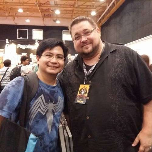 Omar with CB Cebulski, Marvel Vice President for International Development and Brand Management. He's also a Marvel writer and editor. He scouts artists around the globe!