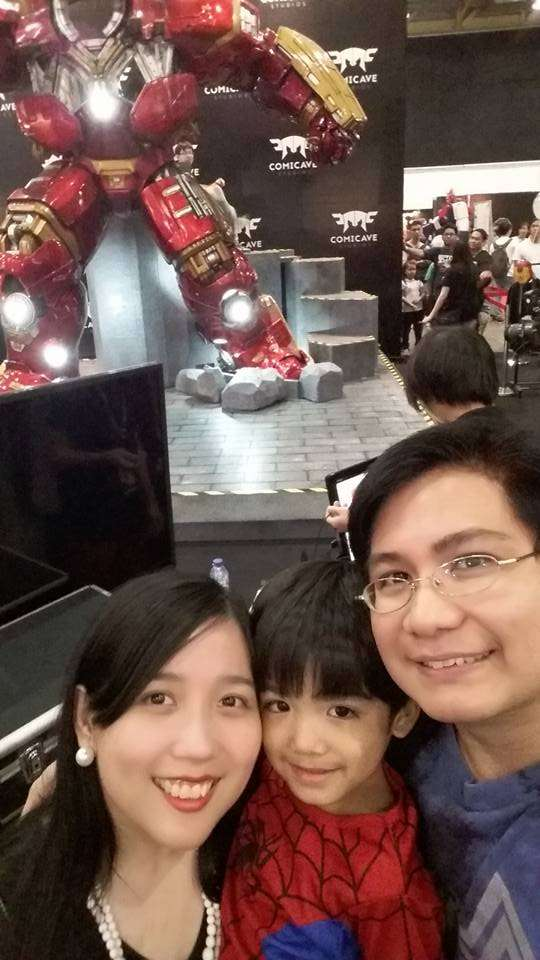 It's the Hulkbuster! You can actually have your pic taken inside but the lines were too long.