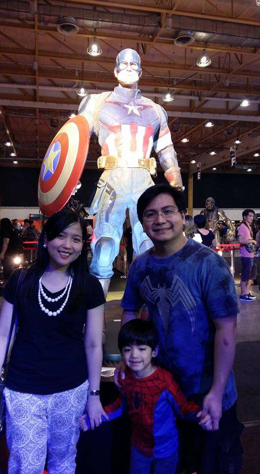 Team Guerrero with Captain America! :)