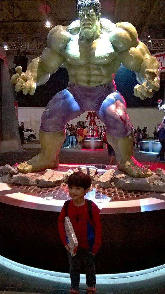 Timmy and the Hulk. :) Talk about life-size!