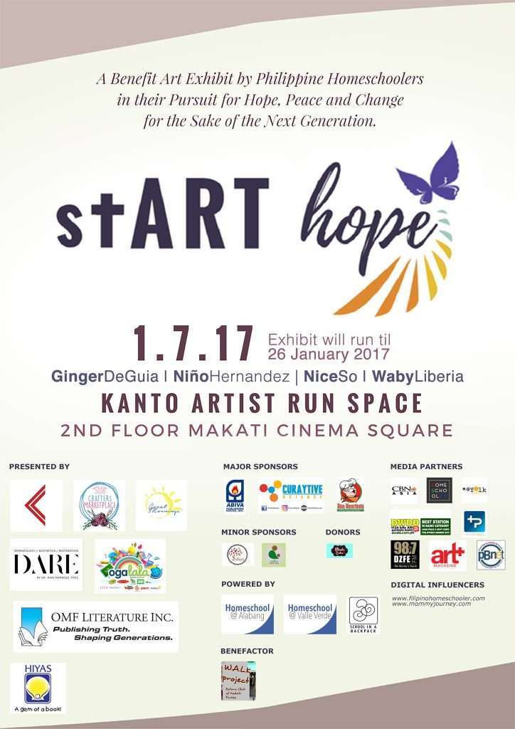 start hope art exhibit